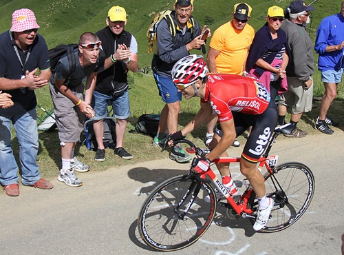 Tony Gallopin during the 2014 Tour de France (CC licensed by Brendan Ryan via Flickr)