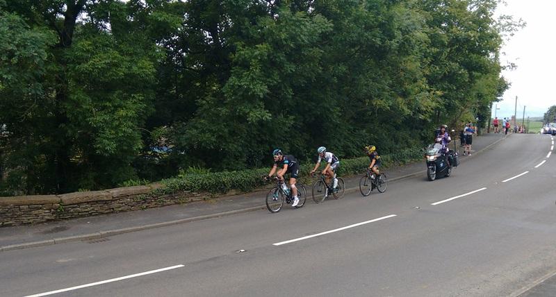 Ian Stannard leads the break through Rainow, Cheshire, on his way to winning stage three of the 2016 Tour of Britain