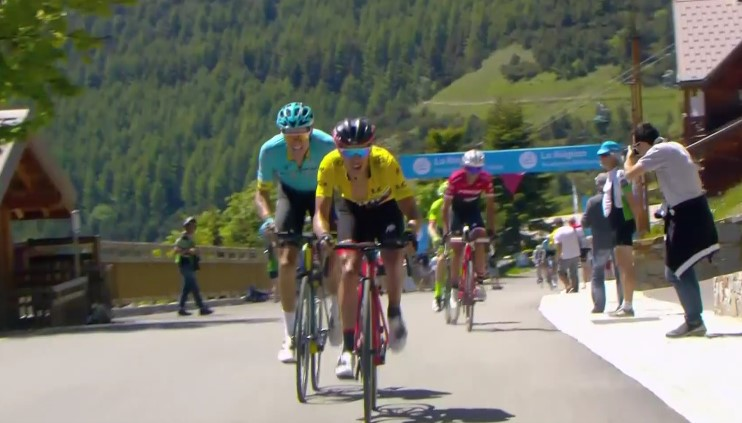 Richie Porte and Jakob Fuglsang (via Daily Motion)