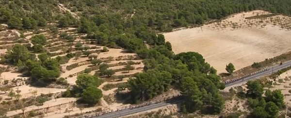 Vuelta, stage eight (via YouTube)