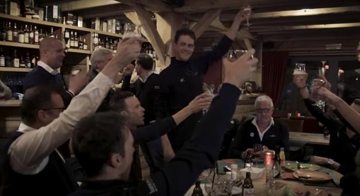 Niki Terpstra celebrates (via YouTube)