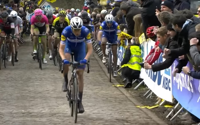 Niki Terpstra in the Tour of Flanders (via YouTube)